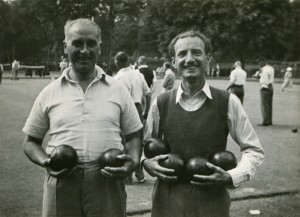 grandad and bunny with bowls