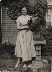 mum with flowers
