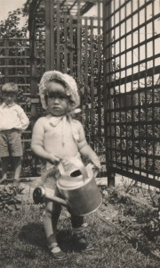 mum with watering can